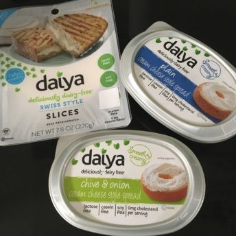 Gluten-free dairy free cheese and cream cheese from Daiya Foods