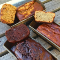 Gluten-free zucchini, pumpkin, & chocolate breads from Darcy's Delights