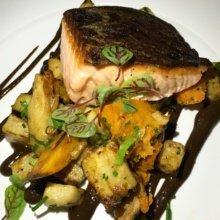 Gluten-free salmon entree from Davios