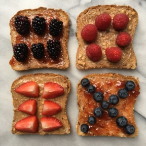 Deconstructed Gluten-free PB&J with Berries