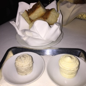 Gluten-free bread and butter from Del Posto