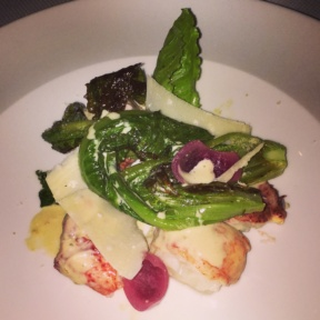 Gluten-free lobster salad from Del Posto
