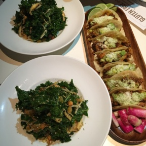 Gluten-free tacos and salads from Delicatessen