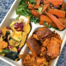 Gluten-free squash, carrots, and sweet potatoes from Dig Inn