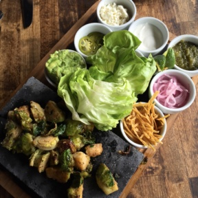 Gluten-free lettuce wraps with brussels from Dirt Candy