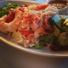 Gluten-free lobster Cobb salad from Docks Oyster Bar