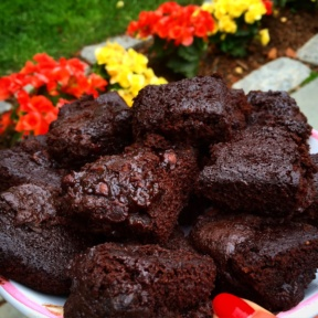 Gluten-free Double Chocolate Chip Brownies
