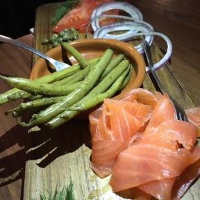 Gluten-free smoked salmon platter from Drexler's