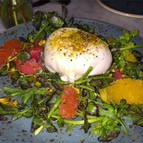 Gluten-free burrata from Dudley's