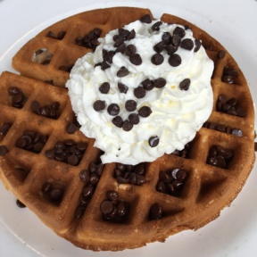 Gluten-free chocolate chip waffle from EJ's Luncheonette