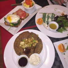 Gluten-free brunch spread from Eden Bistro