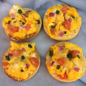 4 Gluten-free English Muffin Breakfast Pizzas