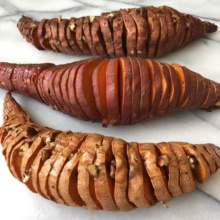 Gluten-free Hasselback Sweet Potatoes