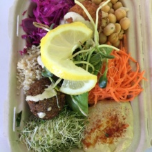 Gluten-free hummus bowl from Fala Bar