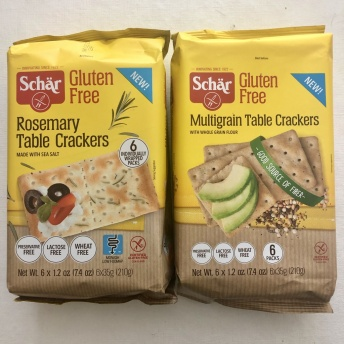 Gluten-free crackers by Schar