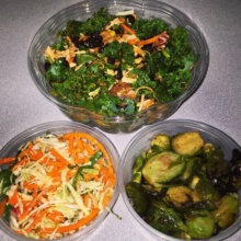 Gluten-free salads from Fields Good Chicken