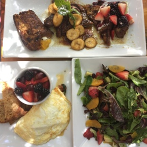 Gluten-free brunch spread from Fig Tree Cafe