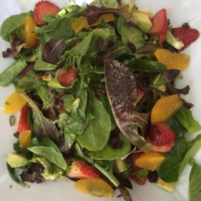 Gluten-free house salad from Fig Tree Cafe