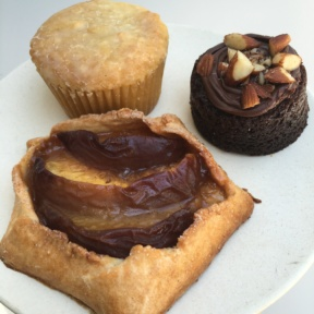 Gluten-free tart and muffin from Flower Child