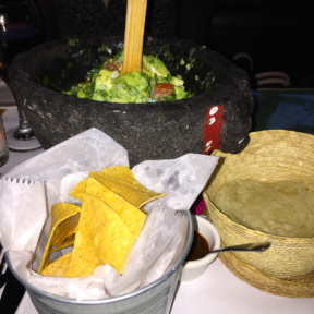 Gluten-free guacamole and chips from Fonda