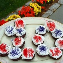 Gluten-free Fourth of July Cupcakes