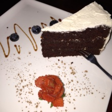 Gluten-free chocolate cake from Franchia Vegan Cafe