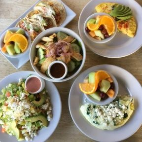 Gluten-free brunch spread from Fratelli Cafe