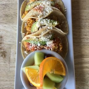 Gluten-free tacos from Fratelli Cafe
