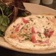 Gluten-free omelette from Freemans Restaurant