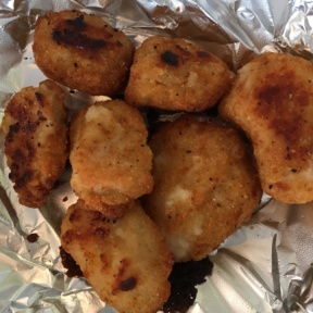 Gluten-free chicken poppers from Fresh Brothers