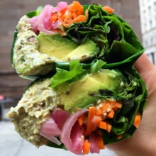 Gluten-free tuna wrap from Fresh & Co