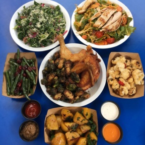 Gluten-free lunch spread from Fritzi Coop