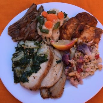 Gluten-free plate of food from Fuel