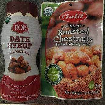 Gluten-free date syrup and chestnuts from Galil Foods