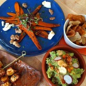 Gluten-free dinner spread from Gardenia