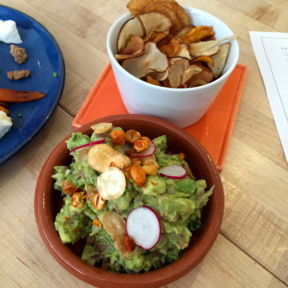 Gluten-free guacamole and chips from Gardenia