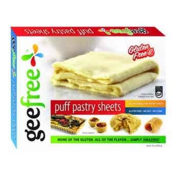 Gluten-free puff pastry sheets from Gee Free Foods