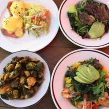 Gluten-free brunch spread from Gladstone's