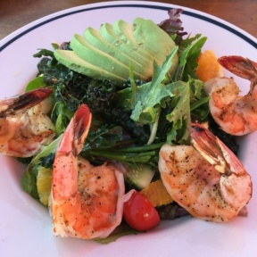 Gluten-free shrimp salad from Gladstone's
