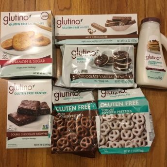 Gluten-free bagel chips, cookies, and pretzels from Glutino