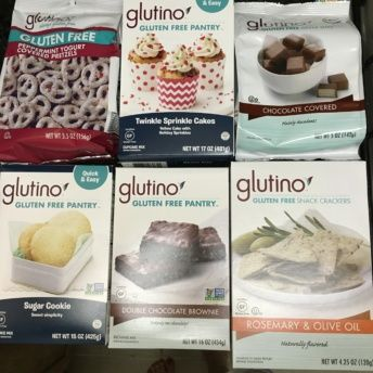 Gluten free products by Glutino