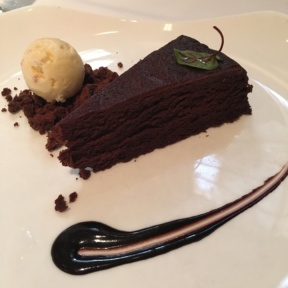 Gluten-free flourless chocolate cake from Gotham Bar and Grill
