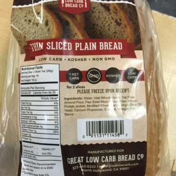 Gluten free, low carb, non-GMO, and kosher bread by Great Low Carb