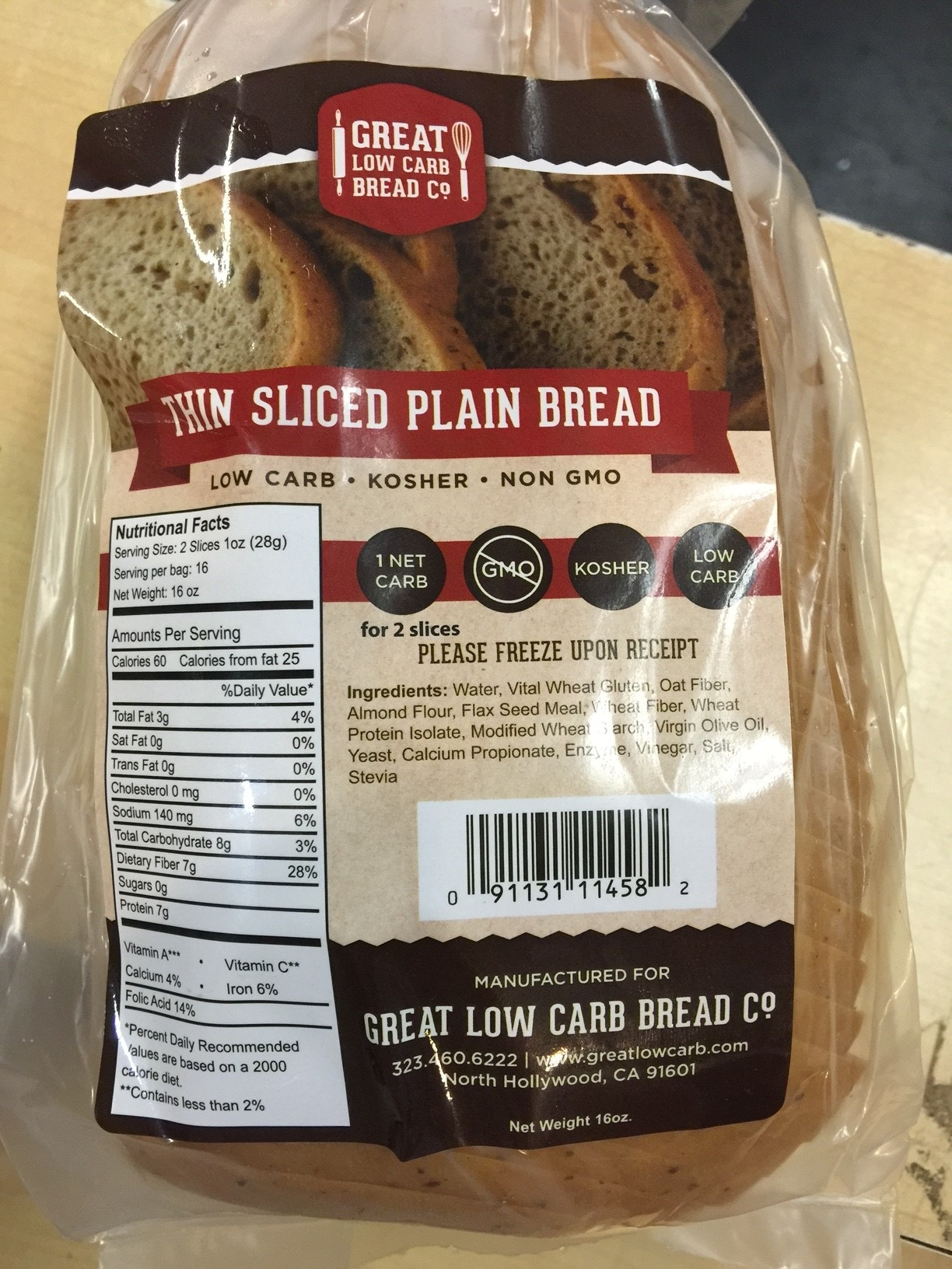 Great Low Carb Bread Company Gluten Free Follow Me