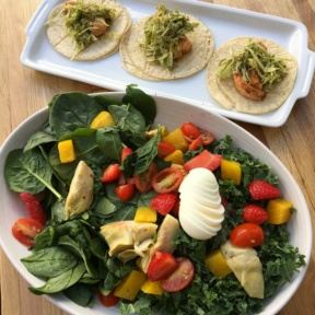 Gluten-free salad from tacos from Greenleaf Chopshop