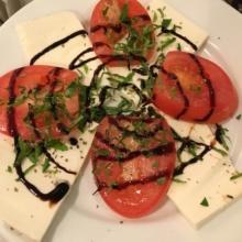 Gluten-free caprese salad from Grimaldi's