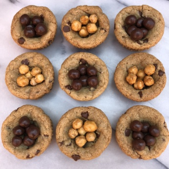 Gluten-free cookie cups with Saffron Road Foods chickpeas