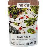 Gluten-free balsamic dressing from Hak's