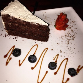 Gluten-free chocolate cake from Hangawi