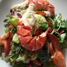 Gluten-free lobster Cobb salad from Harry's Cafe & Steak